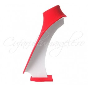Bust coliere velur rosu fara burete 21x30 cm