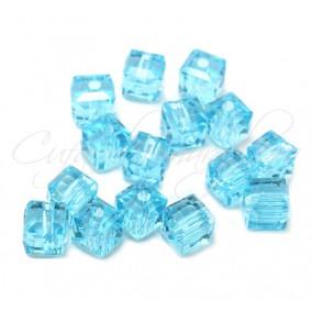 Cristale cub bleu azur 4 mm