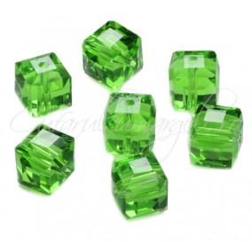 Cristale cub verde crud 4 mm