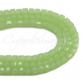 Cristale cub verde opal 4 mm