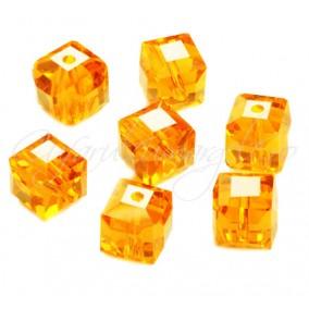 Cristale cub galben oranj 4 mm
