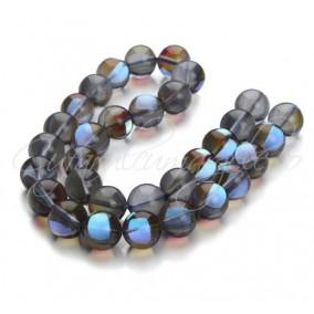 Margele licurici cristal lucios sferic gri albastru