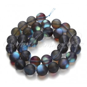 Margele licurici cristal sablat sferic gri albastru
