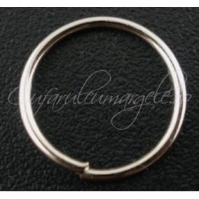 Zale simple alb argintiu gros 10 diametru 12mm (100 zale)