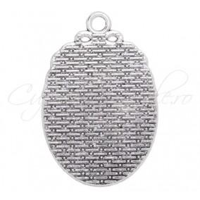 Baza pandantiv argintiu 40x27mm cabochon oval 25x18mm