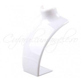 Bust acril alb opac 14x21cm