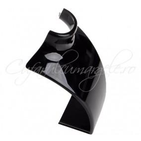 Bust acril negru opac 14x21cm