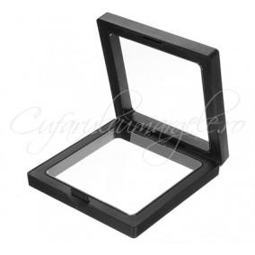 Cutie neagra expunere vitrina pereti silicon 105mm