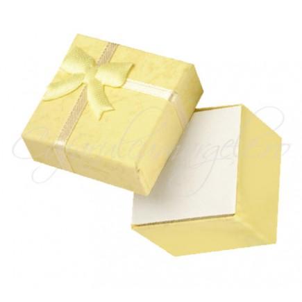 Cutie cadou inele patrata galben 40x40x25mm