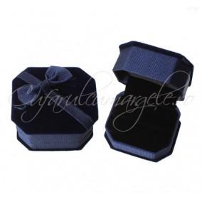 Cutie inel catifea albastru 6x5x4cm