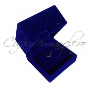 Cutie set catifea albastra 6x6x4cm