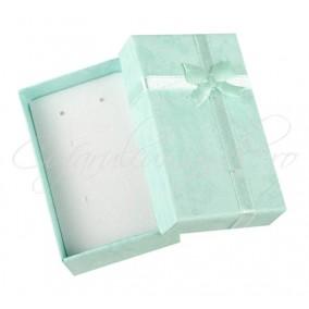 Cutie set bijuterii carton bleu 8x5x3cm