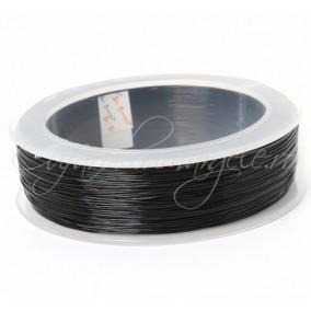 Guta elastica neagra 0,5mm rola 100m