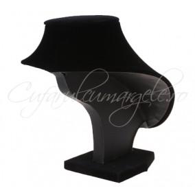 Bust coliere velur negru 14x16cm