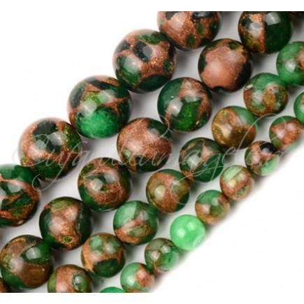 Agate mozaic verde 8mm