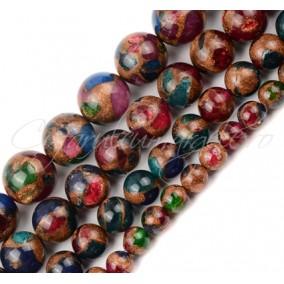 Agate mozaic curcubeu 6mm