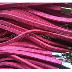 Baza colier faux suede fucsia sclipici 45cm