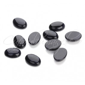 Blue goldstone cabochon oval 14x10mm