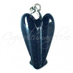 Pandantiv inger blue goldstone 38x23mm