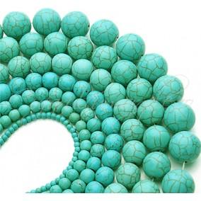 Turcoaz sintetic sferic nefatetat 8mm sirag