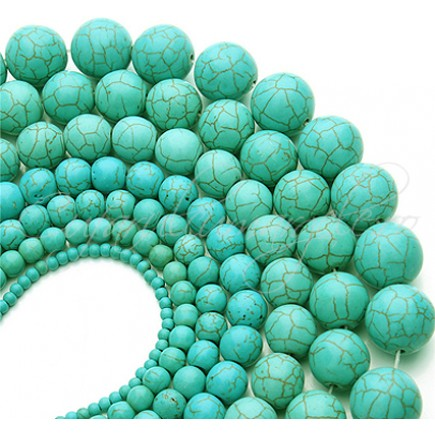 Turcoaz sintetic sferic nefatetat 18mm