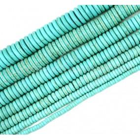 Turcoaz sintetic rondele nefatetate 8x3mm 10 bucati