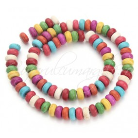 Howlit multicolor rondele nefatetate 6x4mm sirag