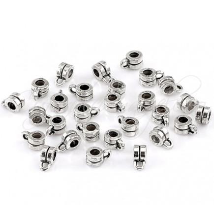 Agatatoare charm argintie 8x4mm 10buc