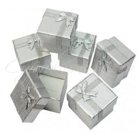 Cutie cadou inel argintie 4x4x3cm