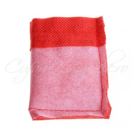Saculeti panza in rosu 9x7cm