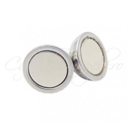 Inchizatori magnetice sfera gri argintiu 14x8mm
