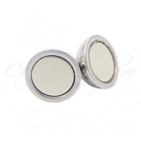 Inchizatori magnetice sfera gri argintiu 16x10mm