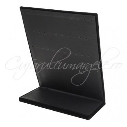 Suport vertical catifea neagra 26x20cm expunere 30 perechi cercei