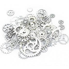 Accesorii argintii rotite ceas amestec 100g