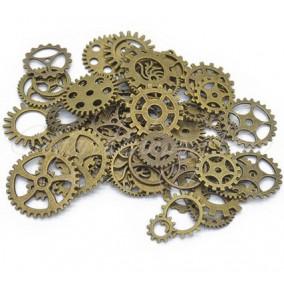 Accesorii bronz rotite ceas amestec 100g