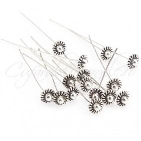 Ace argintii cap decorativ semisfera 54mm