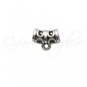 Agatatoare charm argintie 11x10mm