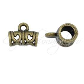 Agatatoare charm bronz 10x12mm