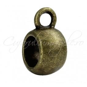 Agatatoare charm bronz 10x5mm 10buc