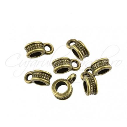 Agatatoare charm bronz 4x8mm