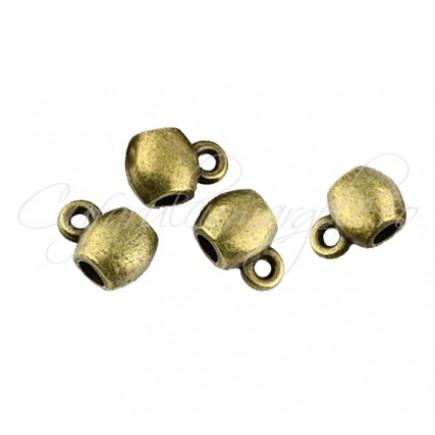 Agatatoare charm bronz 5x9mm