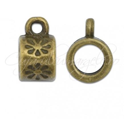 Agatatoare charm bronz 7x10mm