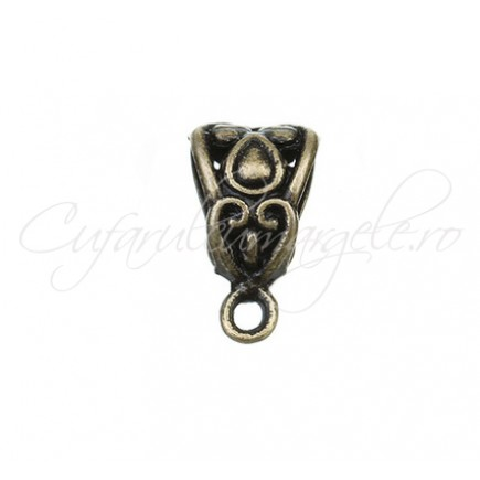 Agatatoare charm bronz 7x13mm