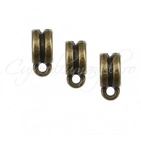 Agatatoare charm bronz 8x4mm 10buc