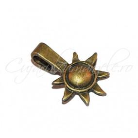 Agatatori pandantiv cabochon bronz soare 17x12mm
