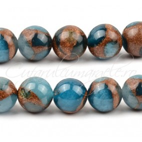 Agate mozaic light blue 6mm