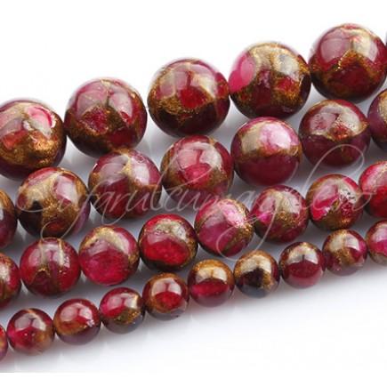 Agate mozaic rosii sferice nefatetate