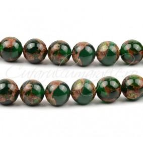 Agate mozaic verde 6mm
