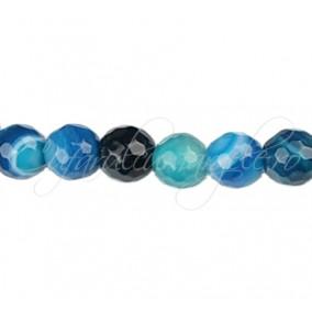 Agate striate fatetate albastru 10 mm