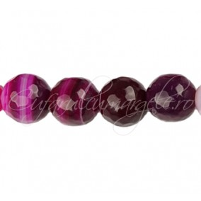 Agate striate fatetate fucsia 14 mm